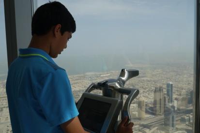 Nathan atop the Burj Khalifa