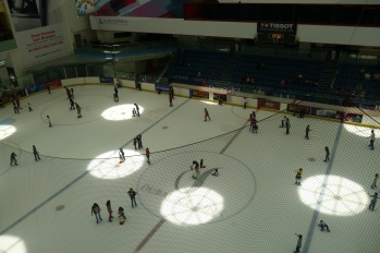 No desert mall is complete without an ice rink.
