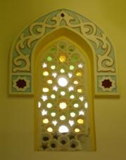 Window inside mosque