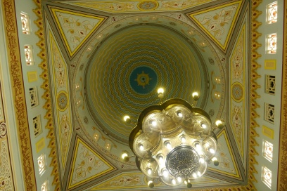 Beautiful ceiling inside mosque