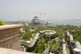 Like everywhere else in Dubai, there's construction. More slides are being built.