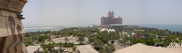 From Aquaventure, you see Atlantis The Palm Hotel in the distance.