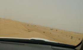 Riding on sand dune ridge