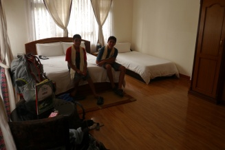 Room at Thamel Eco Resort. Not sure where the resort part comes in.