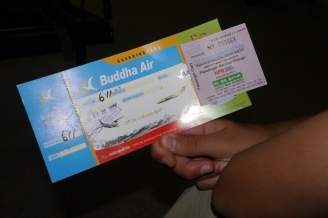 We flew Buddha Air to Pokhara.