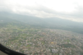 A section of Kathmandu from the air