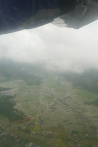 Rice paddies in Pokhara, full of water
