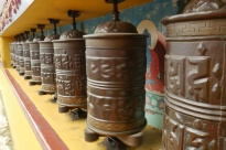Pray wheels at monastery