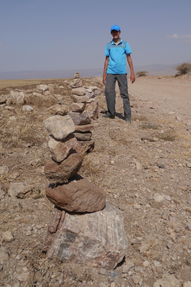 Nathan leaves his mark in the Serengeti.