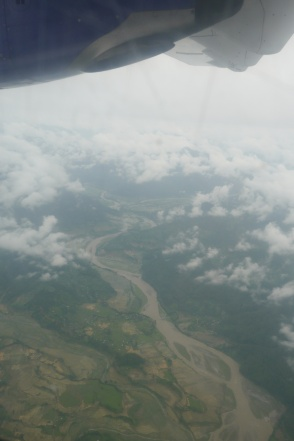 One of many rivers flowing down from the Himalayas