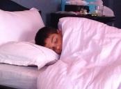Aidan, sick and vomiting.