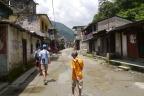 We begin the trek walking through this village (name unknown).