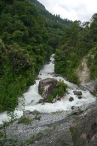 The Seti River roars like a freight train.