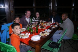 Last dinner with Carl, Lorna, Malles, and Gideon