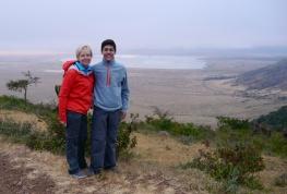 Shellie and Nathan at Ngorongoro Crater