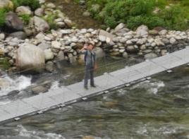 Nathan on bridge
