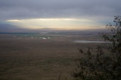 Break in the clouds over Ngorongoro Crater