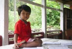 "This little Nepalese girl kept repeating ""namaste, namaste."""