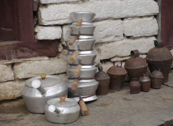 Cookware on the stoop