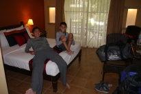 Boys are very happy with the accommodations.
