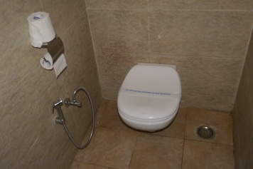 Yep, we were so excited to see a toilet that we took a photo of it!