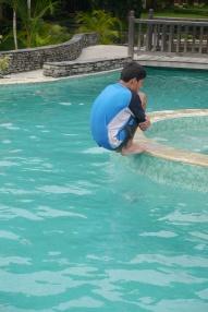 Nathan enjoying the pool