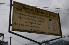 We visited Namaste Children's House in Pokhara.