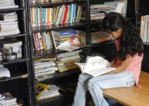Library where older kids study