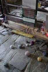 Weaving loom at Tibetan refuge colony in Pokhara
