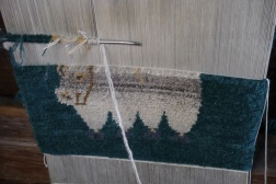 Yak rug in the making