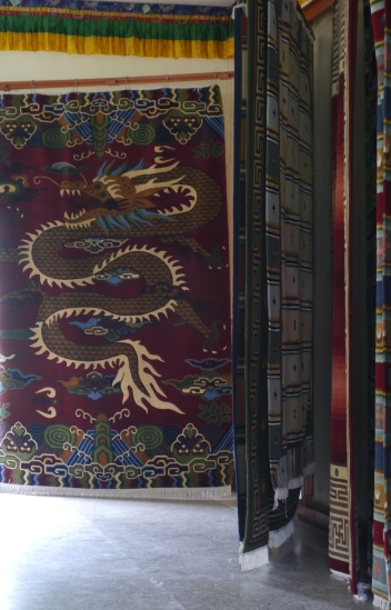 So much work goes into these large handmade rugs.