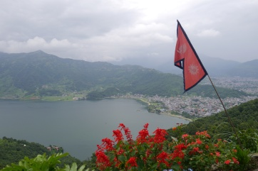 Nepal is one of a handful of countries that has an irregularly-shaped flag. It's kinda cool.