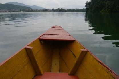 Row boat across Phew Lake