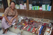 I bought a necklace from this woman. She made it. She was sweet but a tough negotiator.