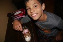 The only food that Aidan has truly enjoyed in Nepal: banana split.