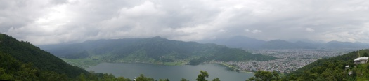 View of Pokhara from the Peace Pagoda