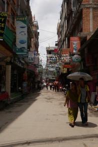 Thamel district, touristy area of Kathmandu