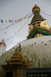 Swayambhunath, also known as the Monkey Temple, in Kathmandu