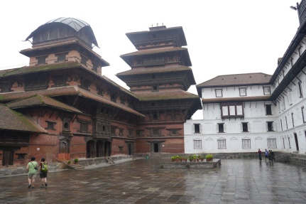 Two different styles of palace buildings, each built by a different king