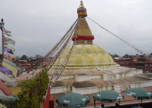 Boudhanath Stupa in Kathmandu, an UNESCO World Heritage site