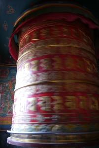 Giant spinning prayer wheel