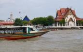 Longboat on Chao Phraya River