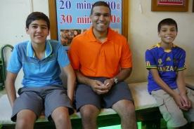 Spa night for Nathan, Neerav, and Aidan