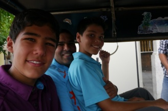 Yes, we can fit 4 people in one tuk-tuk!