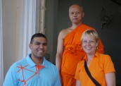 Had to take a photo... we were color-coordinated with the monk.