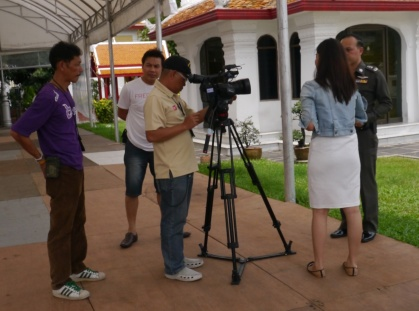 Spotted a Thai television crew at Marble Temple