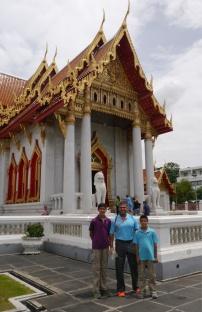 Nathan, Neerav, and Aidan at Marble Temple