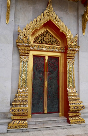 Ornate door at Marble Temple