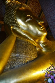 Head of enormous Reclining Buddha