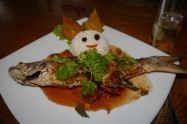 Fish served the traditional Thai way with head and tail